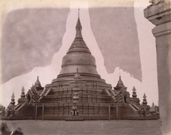 General view of the Kuthodaw Pagoda, Mandalay